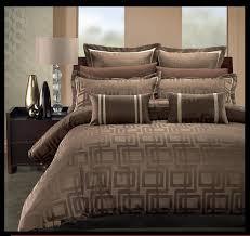 Bed Covers Set Home Opulent Decor Brown Pattern Duvet Set