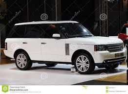 land rover white white range rover suv editorial photography image 18118017