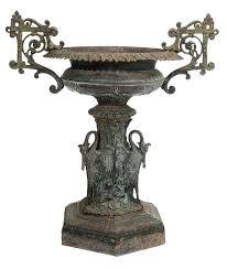 planter urns pedestal antique cast iron garden urns garden urn
