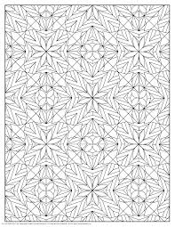 coloring pages for adults stars and flowers pattern coloring