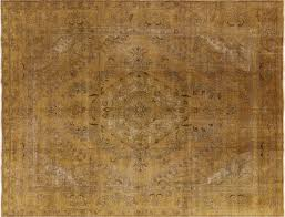 10 x 13 area rugs burnt gold 10 u0027x13 u0027 orential floral overdyed hand knotted wool area