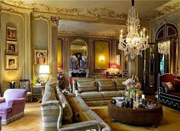 Parisian Interior Design Style Wall Mirror Chandelier Molding Decorating With Style