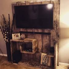 country wall entertainment center with recycled pallets master