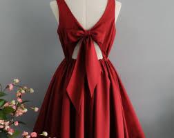 red dress etsy