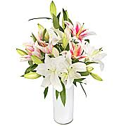 Bouquet Of Lilies Pink Lilies Pink Lily Bouquets Serenata Flowers