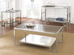 Glass And Metal Sofa Table Occasional Tables U0026 3 Pack Sets Furniture Decor Showroom