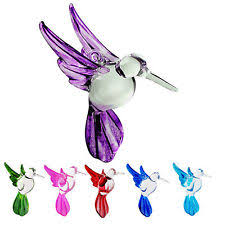 hummingbird ornament glass blown figurine swarovski