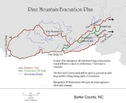 Fire Evacuation Route Plan by Evacuation Routes Pine Mountain Nc