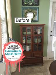 my cabinet makeover in coral how to do homemade chalk paint