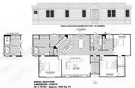3 Bedroom Plan 3 Bedroom Floor Plan B 6031 Hawks Homes Manufactured