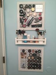 bathroom makeup storage ideas 25 unique magnetic makeup board ideas on diy makeup
