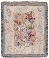 themed throw blanket seashell collection beachside tapestry throw blanket