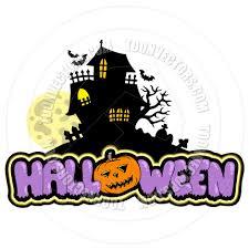 halloween cartoon clip art cartoon halloween sign with haunted house by clairev toon