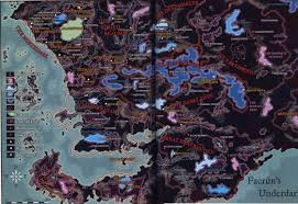 Forgotten Realms Map Forgotten Realms Geography Of The Underdark