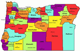 oregon state county map oregon map