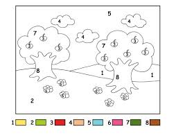 children color number coloring pages coloring pages