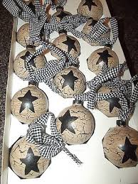 primitive crackle painted glass ornaments black