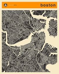 boston city map boston map digital by jazzberry blue
