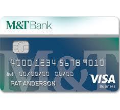 Visa Business Card M U0026t Visa Business Credit Cards M U0026t Bank