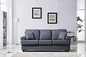 Amazoncom Classic Plush Fabric Sofa Living Room Furniture - Sofa living room set