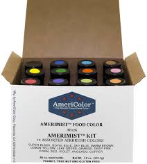 amazon com americolor amerimist airbrush food color kit 12 color