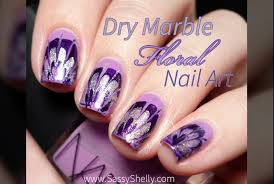 floral dry marble drag marble nail art tutorial youtube