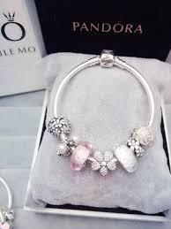 white charm bracelet images 50 off 199 pandora charm bracelet white pink flower hot sale jpg