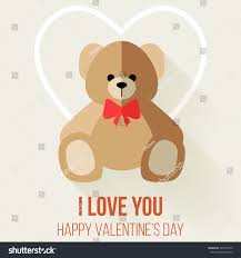 teddy for s day teddy valentines day card vector stock vector 242762572