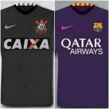 New Camisa Corinthians II 2016/2017 baseada na nova camisa do Barcelona #TK42