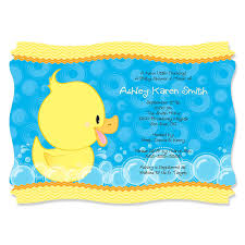 duck baby shower invitations ducky duck personalized baby shower invitations
