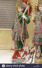 hindu l a statue of hindu deity lord rama l and his lakshmana r