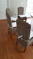 Wicker Kitchen Furniture Wicker Dining Chairs Ebay