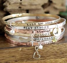 personalized bangle bracelet personalized bangle bracelets with charms lovable keepsake gifts