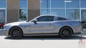 Mustang Gt 2014 Black Kc Trends Showcase Giovanna Shaki Matte Black Wheels Mounted