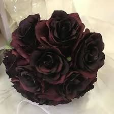 burgundy roses silk wedding bouquet burgundy maroon roses flowers bouquets