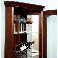 Walnut Wine Cabinet Furniture Of America Jora Traditional Walnut Corner Curio Cabinet
