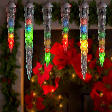 shooting star icicle lights lightshow 10 count led shooting star icicle christmas lights multi