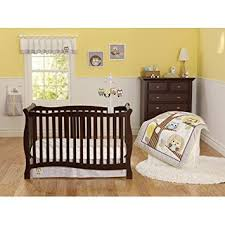 amazon com 3pc baby boy gray yellow owl polka dot crib set