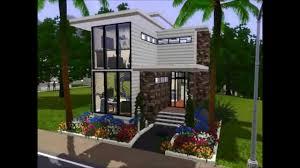 sims 3 mini modern studio loft house simsarchitecture youtube
