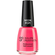 salon perfect neon pop professional nail lacquer 517 oh snap