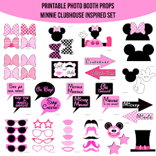 mickey mouse photo booth props instant minnie mouse clubhouse inspired printable photo
