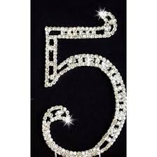 rhinestone number cake toppers 75th birthday 75th anniversary cake topper rhinestone number