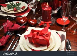 valentine dinner table decorations red romantic valentine dinner two table stock photo 121601035