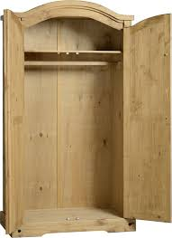 corona 2 door wardrobe in distressed waxed pine u2013 ennis furniture