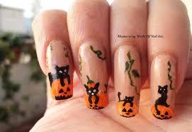 Halloween Nail Art Pumpkin - cats over pumpkins thanksgiving and halloween nails nail art by