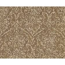 baroque scroll wallpaper in beige and brown design by bd wall 60