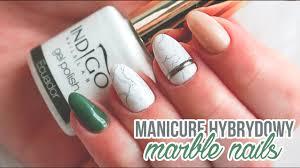 marmurkowe zdobienie marble nails manicure hybrydowy tutorial