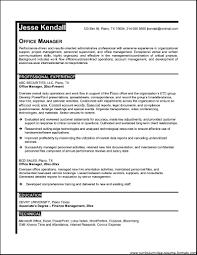 Best Sample Resume 28 Best Sample Resume Manager Best Resume Office Manager