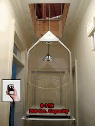 wireless remote attic lift now this would make my life and