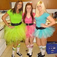 powerpuff girls costumes no sew tutus halloween 2012 runwear